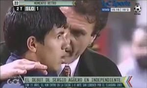 Sergio Aguero debut at Independiente