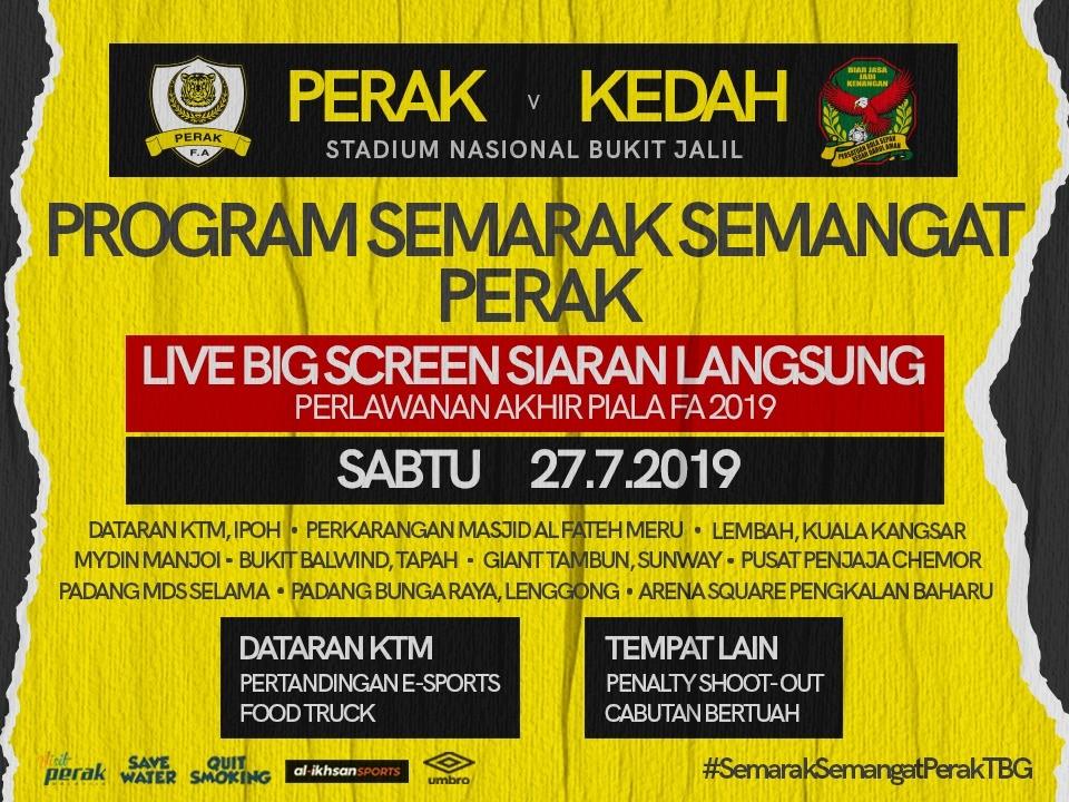 10 Lokasi Di Perak Siarkan Live Big Screen Aksi Final Piala Fa 2019
