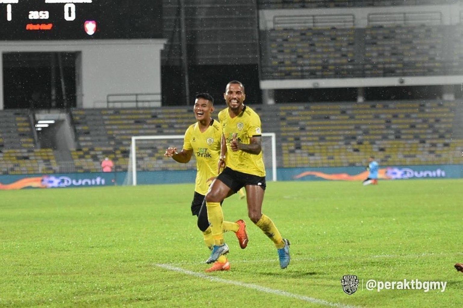 Leandro Hatrik Perak Kelantan United Piala Malaysia 2020