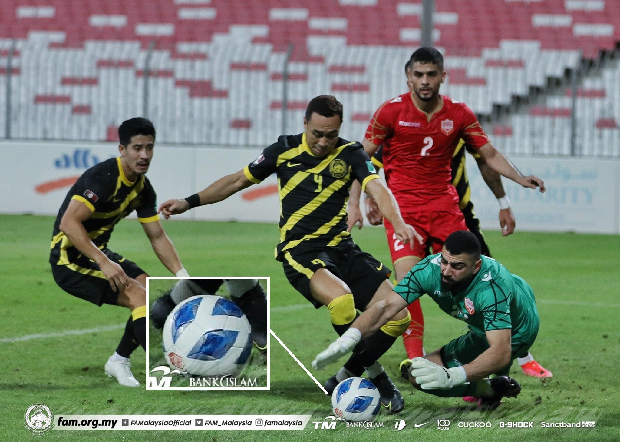 Persahabatan Malaysia Bahrain Bola Molten 2021