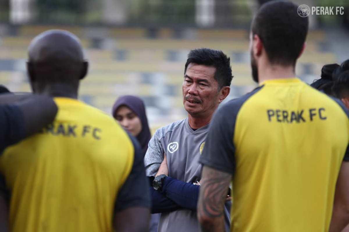Chong Yee Fatt Perak FC latihan KL City Liga Super 2021