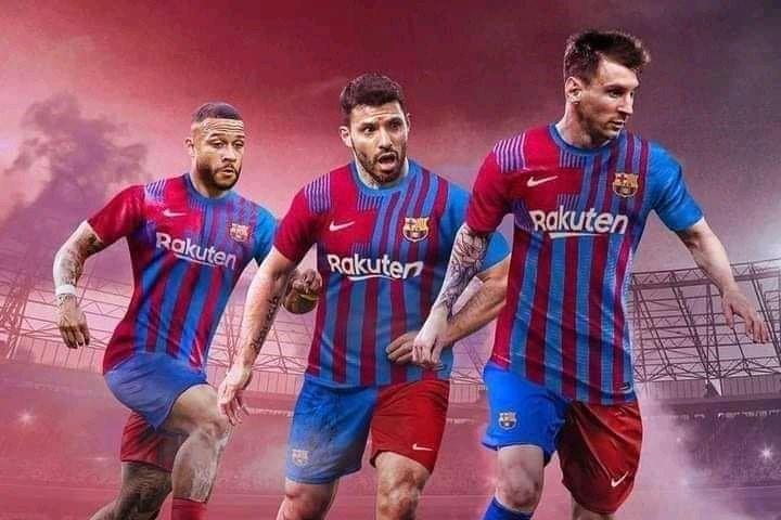 Depay Aguero Messi Barcelona