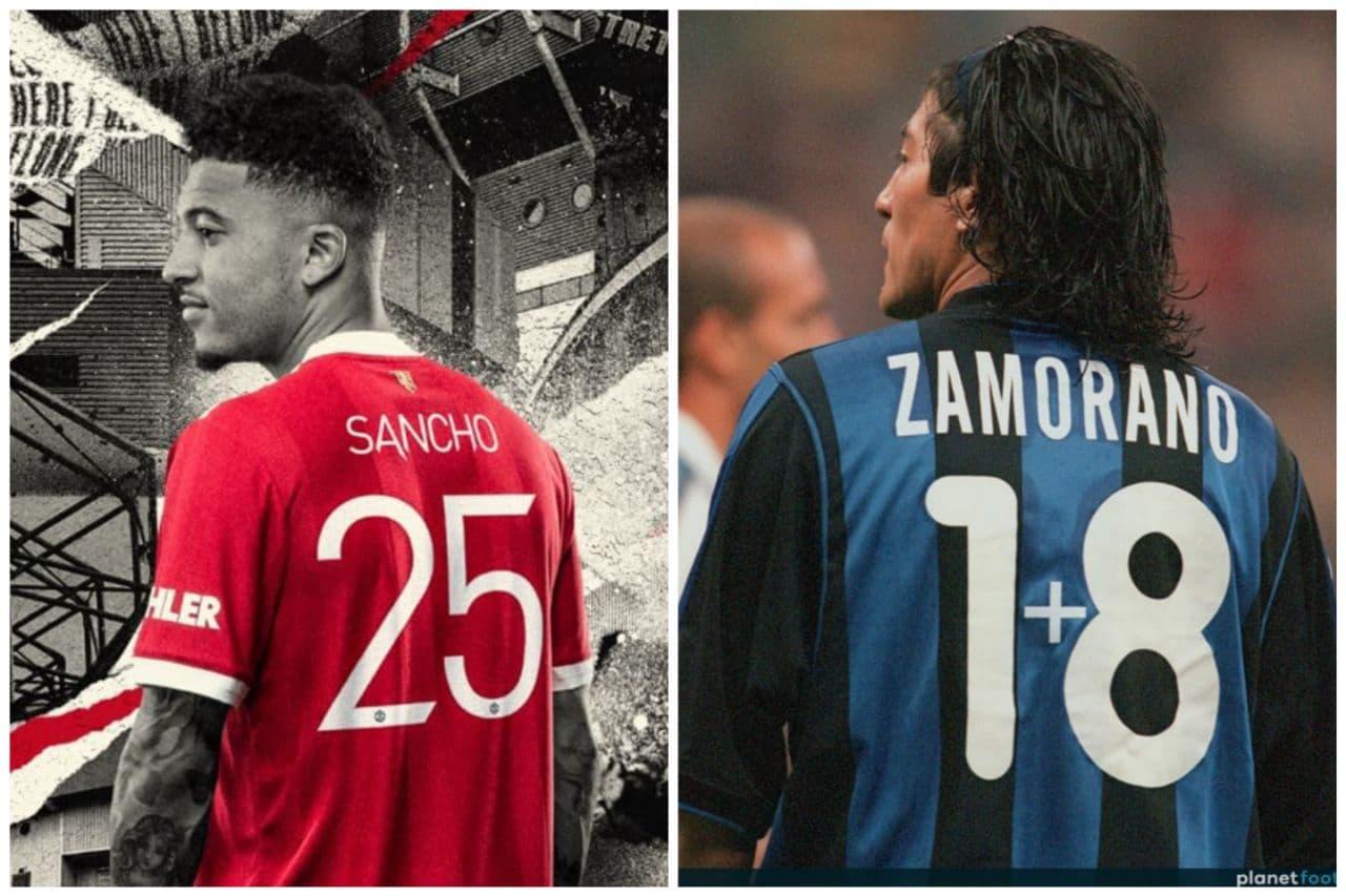 Jadon Sancho Ivan Zamorano 25 Manchester United