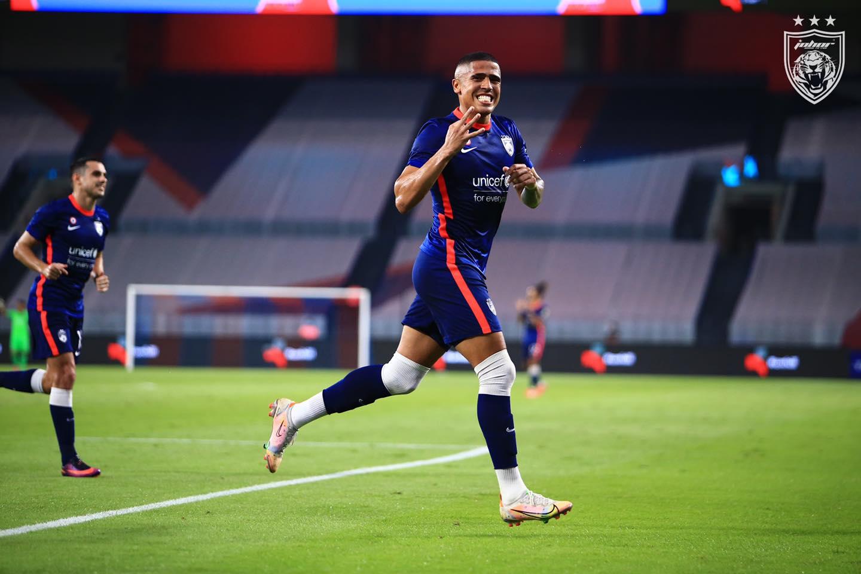 Bergson hatrik JDT Perak Liga Super 2021 simpan kuku