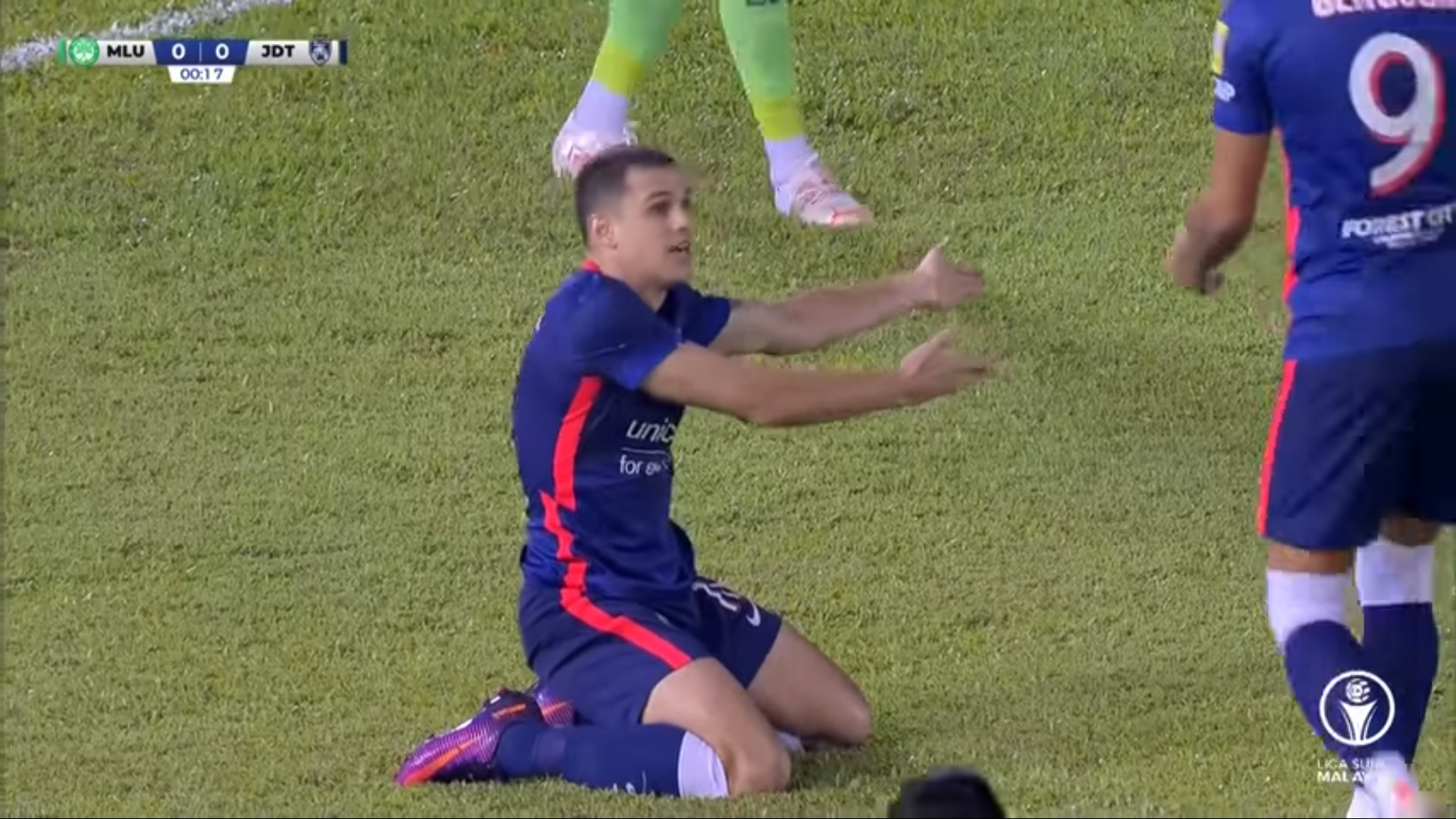 JDT Melaka United Liga Super 2021 zainal abidin penalti