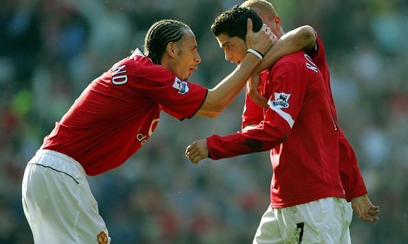 Rio Ferdinand Cristiano Ronaldo Manchester United